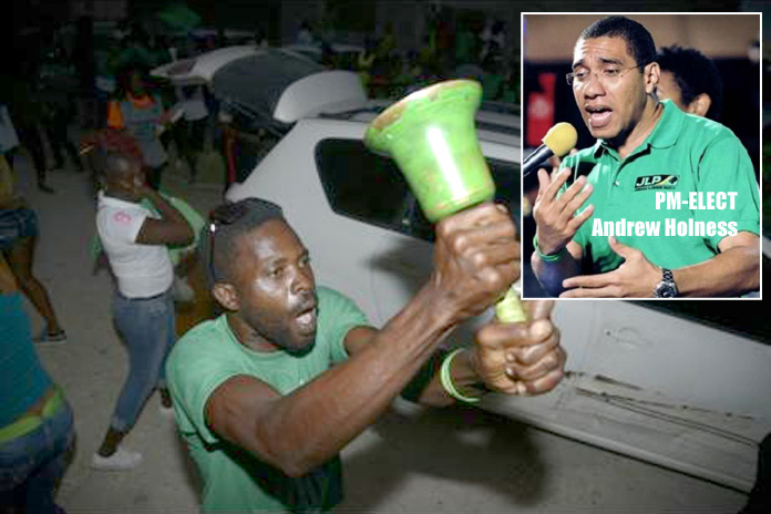 The Bells of Victory ring in Jamaica for the Jamaican Labour Party tonight!