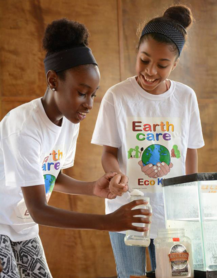 The Mangrove Action Project, at Lucayan National Park teaching the EARTHCARE Eco Kids all about Marvellous Mangroves.