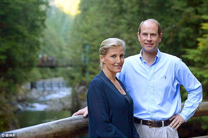 The Earl and Countess of Wessex on a trip to Canada last December. (Photo: DailyMail.uk)