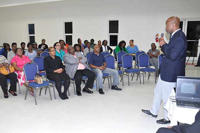 Town Meeting on NHI in Grand Bahama.