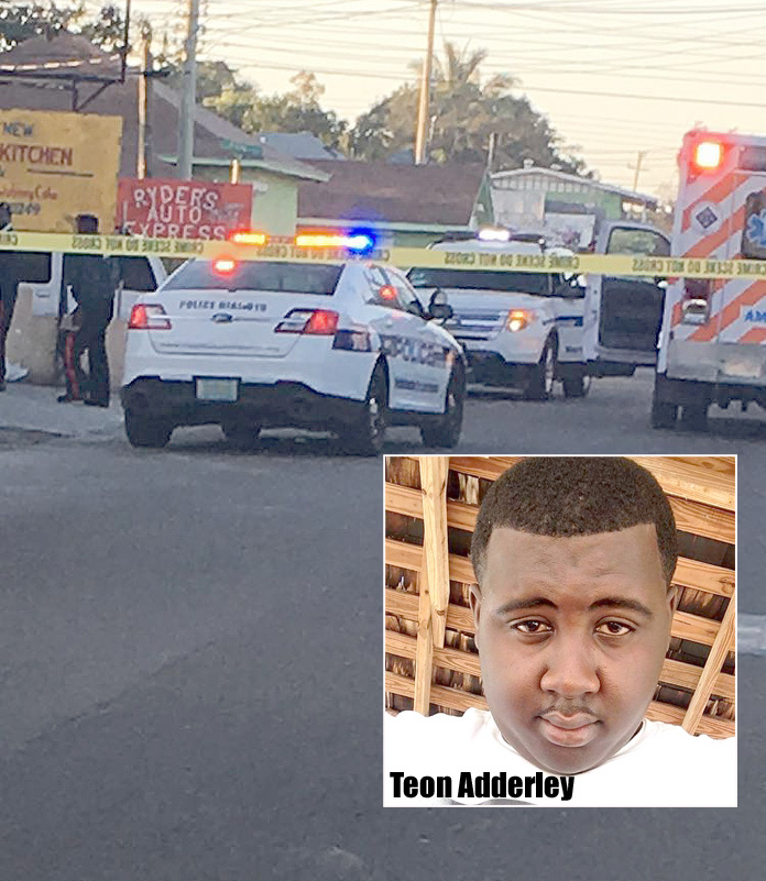 Teon Adderley is the country's latest homicide victim.
