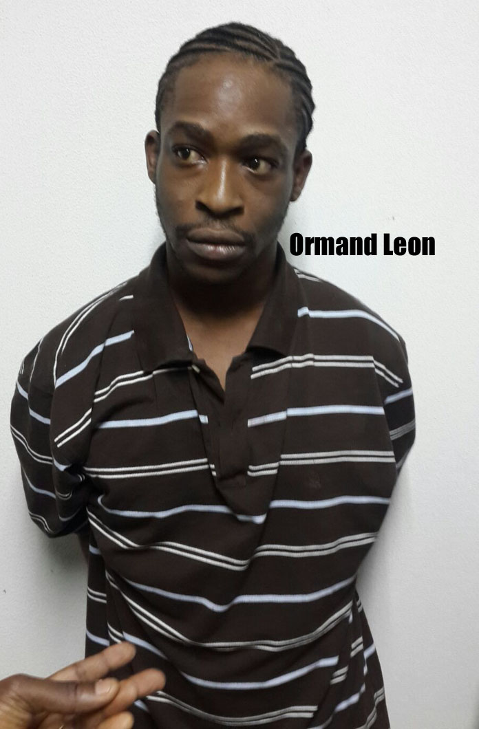 Orman Leon with fresh braids is back in custody after being captured last night.