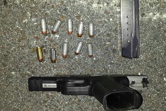 Weapon seized by police following the arrest.