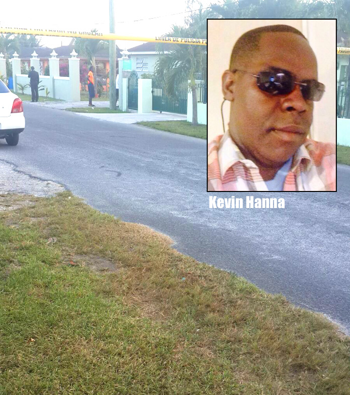 Customs Officer Kevin Hanna gunned down in Bahamia tonight... background are photos from that police shooting in Sunset Park which has two men fatally shot.