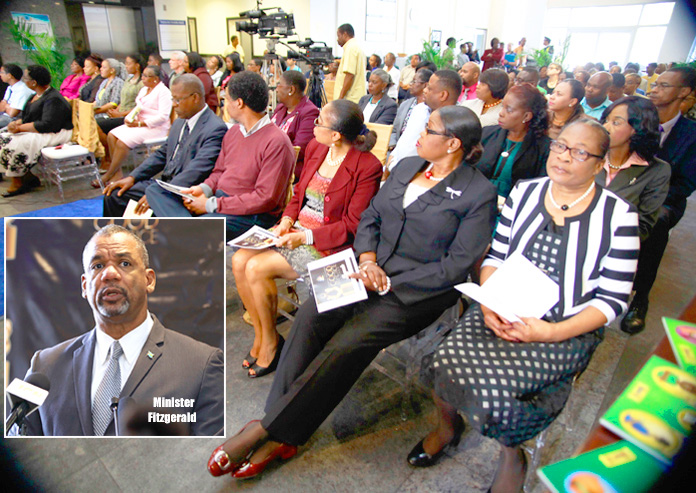 A section of the audience showing senior Education officials, including Deputy Directors, in attendance at the launch of the National Education Good Practice Awards.