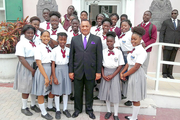 PM Christie with Students.