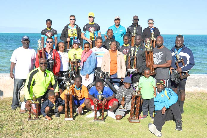 Pictured are event organizers and participants with Grand Bahama Director of Tourism Betty Bethel, standing centre-left.   (BIS Photo/Vandyke Hepburn)