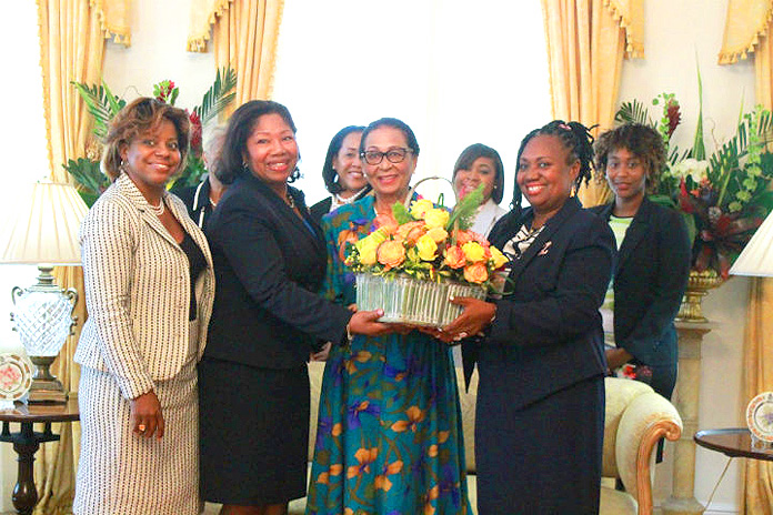 Dame Marguerite and Zonta Members on International Women's Day.