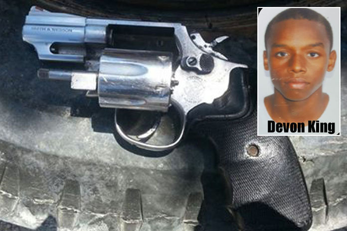 Devon King wanted by police for murder.