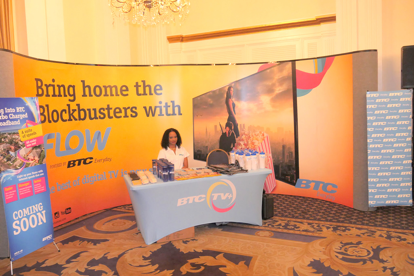Flow TV Booth at the Girls in ICT event.