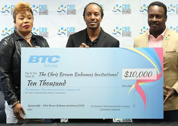 BTC making a presentation to Chris Brown for the CBBI along with Minister Daniel Johnson present.