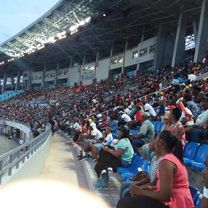 Crowds at the Chris Brown Bahamas Invitation on Saturday past.