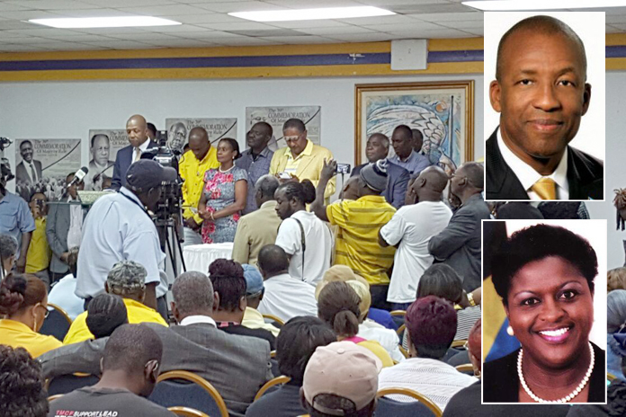 The Progressive Liberal Party has ratified two candidates last evening. Hon. Melanie Griffin for Yamacraw and Alfred Sears for Fort Charlotte.