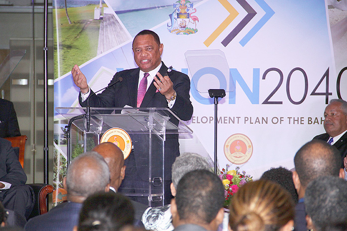 Prime Minister Christie at VISION2040 'State of the Nation Report.'
