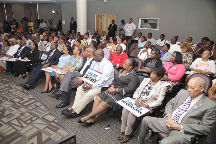 """Residents at the Sunday """"Yes"""" VOTE Launch."""
