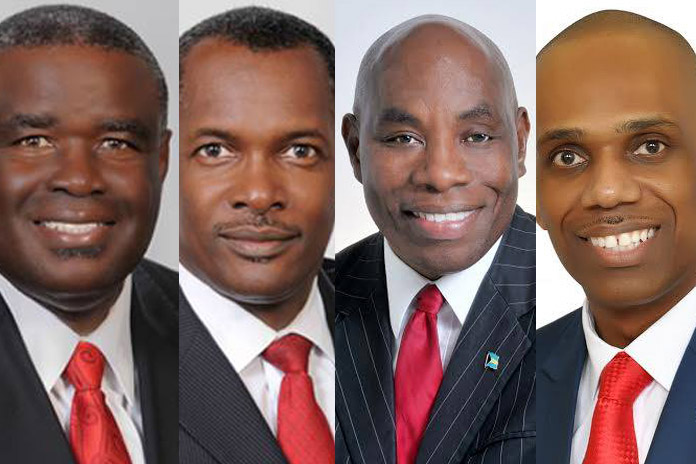 Photos from left to right: Businessman Brensil Rolle, Attorney Desmond Bannister, Rev. Frederick McAlpine and Businessman Gadville McDonald.