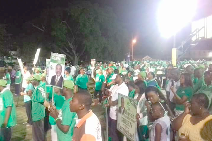 DNA supporters gathered in huge numbers on Christie Park last night! They attracted more supporters than the FNM this week.