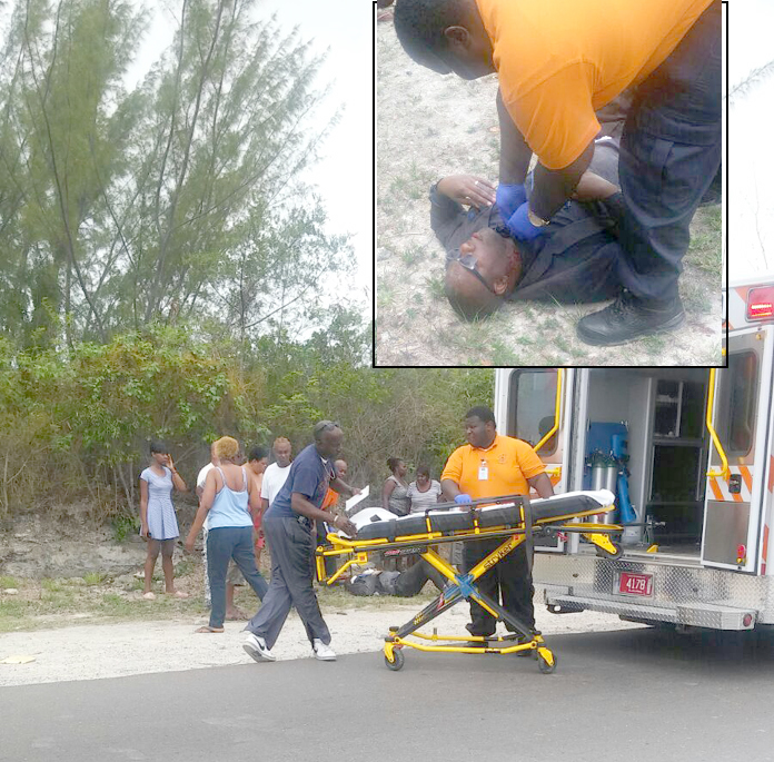 Man left for dead on side of the road after robber shot him and took his truck.