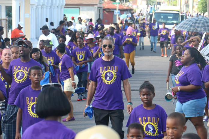 BTC CEO Leon Williams joined workers at the Labour Day Parade.
