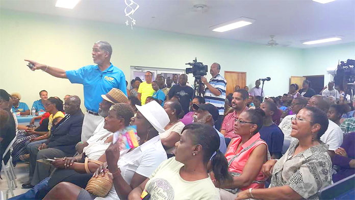 BTC CEO Leon Williams at FLOW TV and Fiber Network Town Meeting.