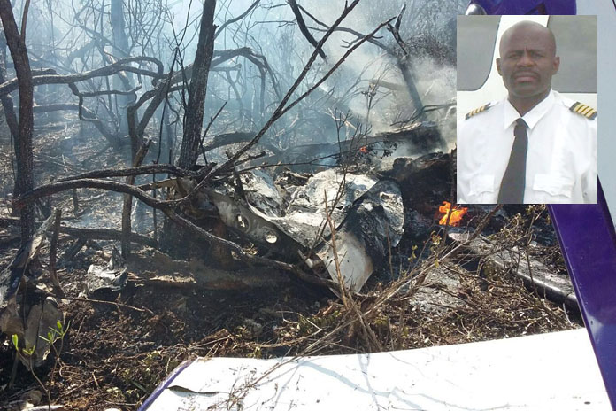 """Plane crashes on South Bimini. Pilot which goes by Terrence Gibson and the nick name """"Tango"""" along with another dies."""