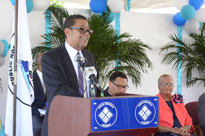Minster of Health the Hon. Dr. Michael Perry Gomez.