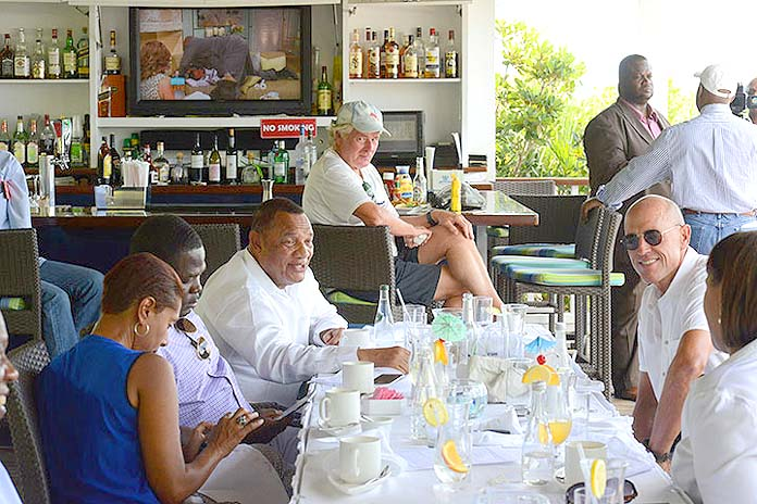 Prime Minister Christie in the Exumas.