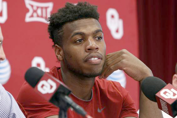 Oklahoma guard Buddy Hield speaks to the media as the men's basketball team practices for it's fifth-ever trip to the NCAA Final FourFinal Four at The Lloyd Noble Center on March 28, 2016 in Norman, Okla. Photo by Steve Sisney, The Oklahoman