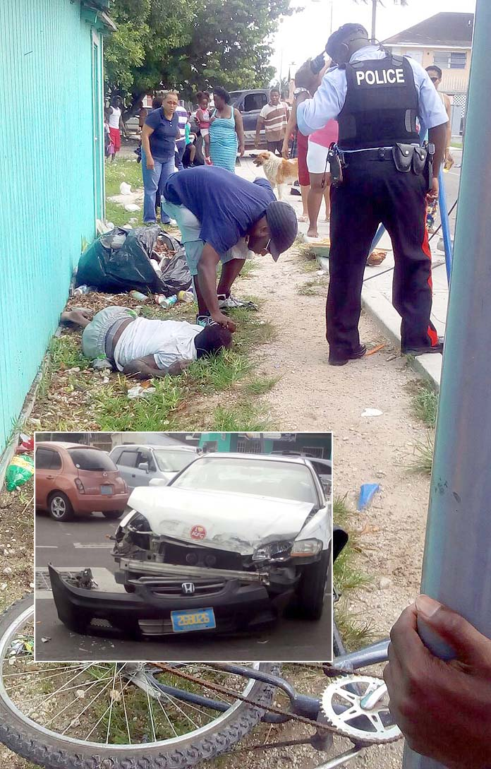 Accident on Market Street today which claimed the life of 58-year-old Kenneth Cartwright of Flemming Street.