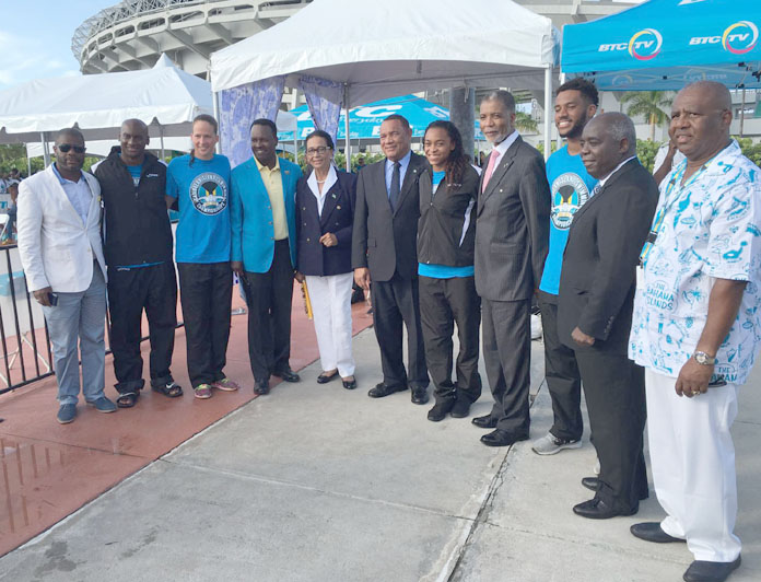 Officials at the 2016 opening including Dame Marguerite, Prime Minister Rt. Hon. Perry Christie and Deputy Prime Minister Hon. Philip Brave Davis.