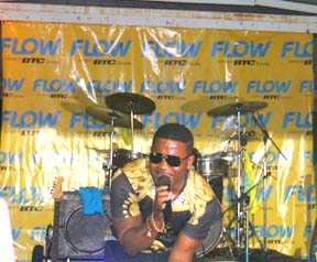 Singer Sammie Starr at the BTC Inagua Carnival