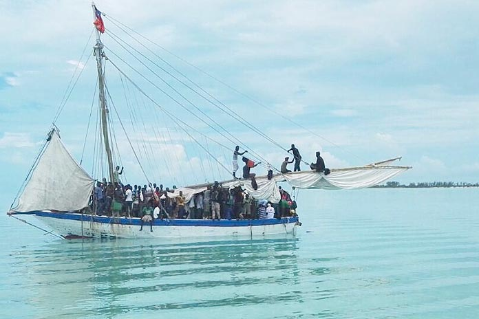 Haitian sloop caught in Andros.