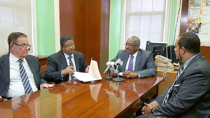 Minnis hold press conference this morning with smaller opposition team.