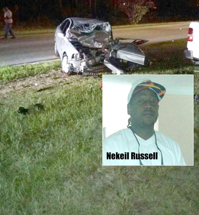 Crash in Grand Bahama. Victim is Nekiel Russell.