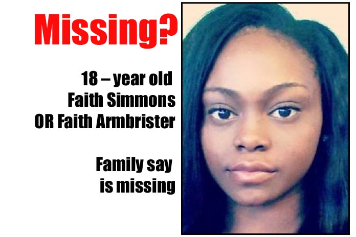 Faith is Missing IN ACTION! MIA