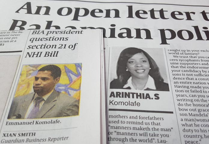 Material in the Tuesday 16th editions of the morning daily.