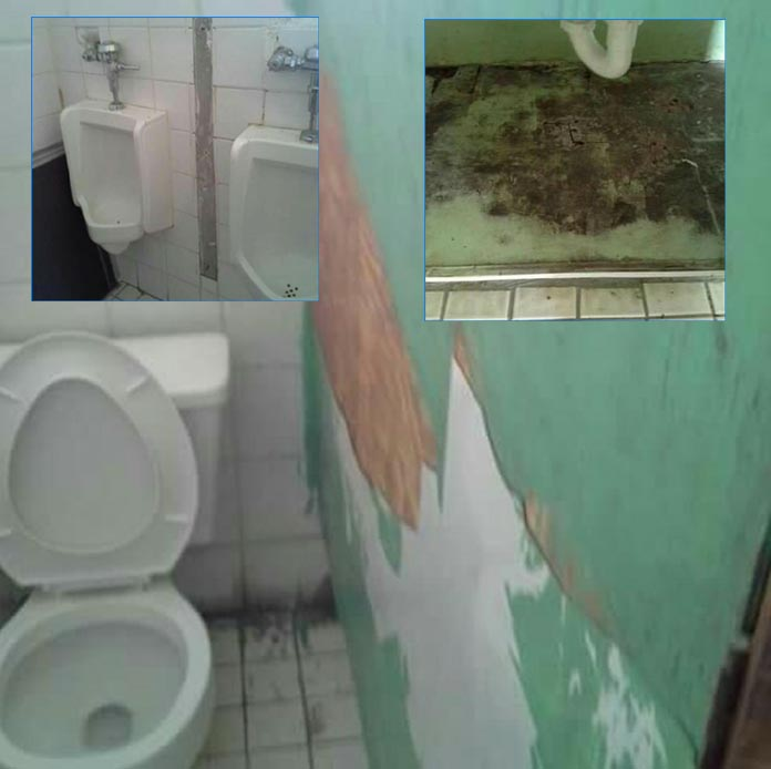 Bathrooms in Moore's Island School needs repairs as the piss takeover the area and school close!