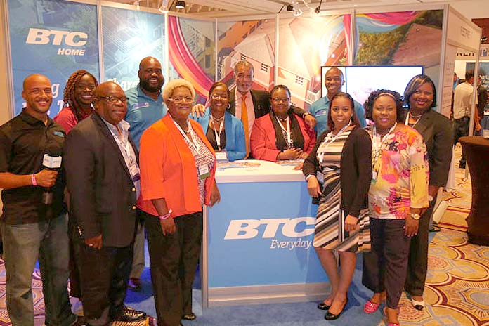 Team BTC at CANTO. Photo includes team members from Networks, Business Intelligence, Marketing and Human Resources.