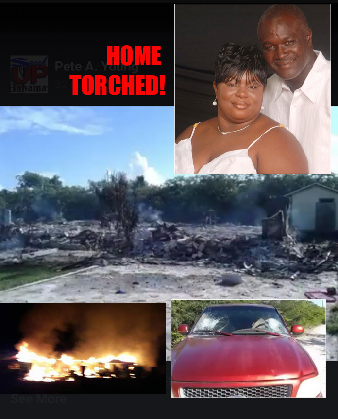 Wife lost it in on Exuma and torched home.