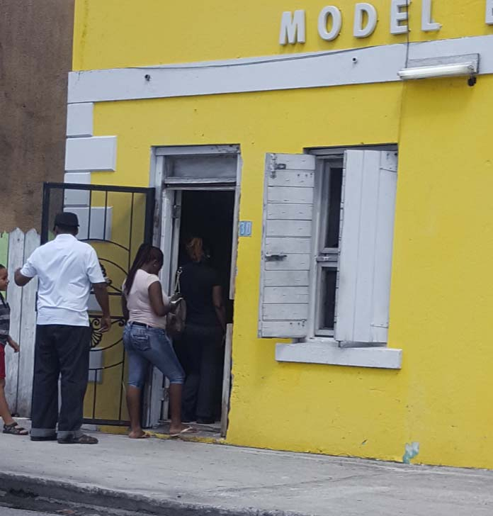 Bahamians lineup outside Model Bakery as Hurricane Matthew approach the Bahamas.