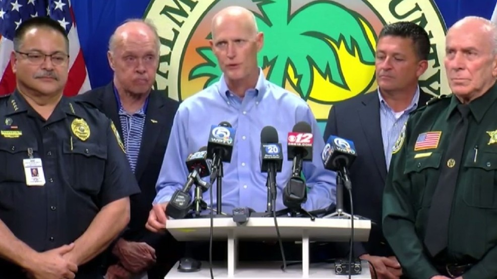 Florida Governor holding aa press conference...