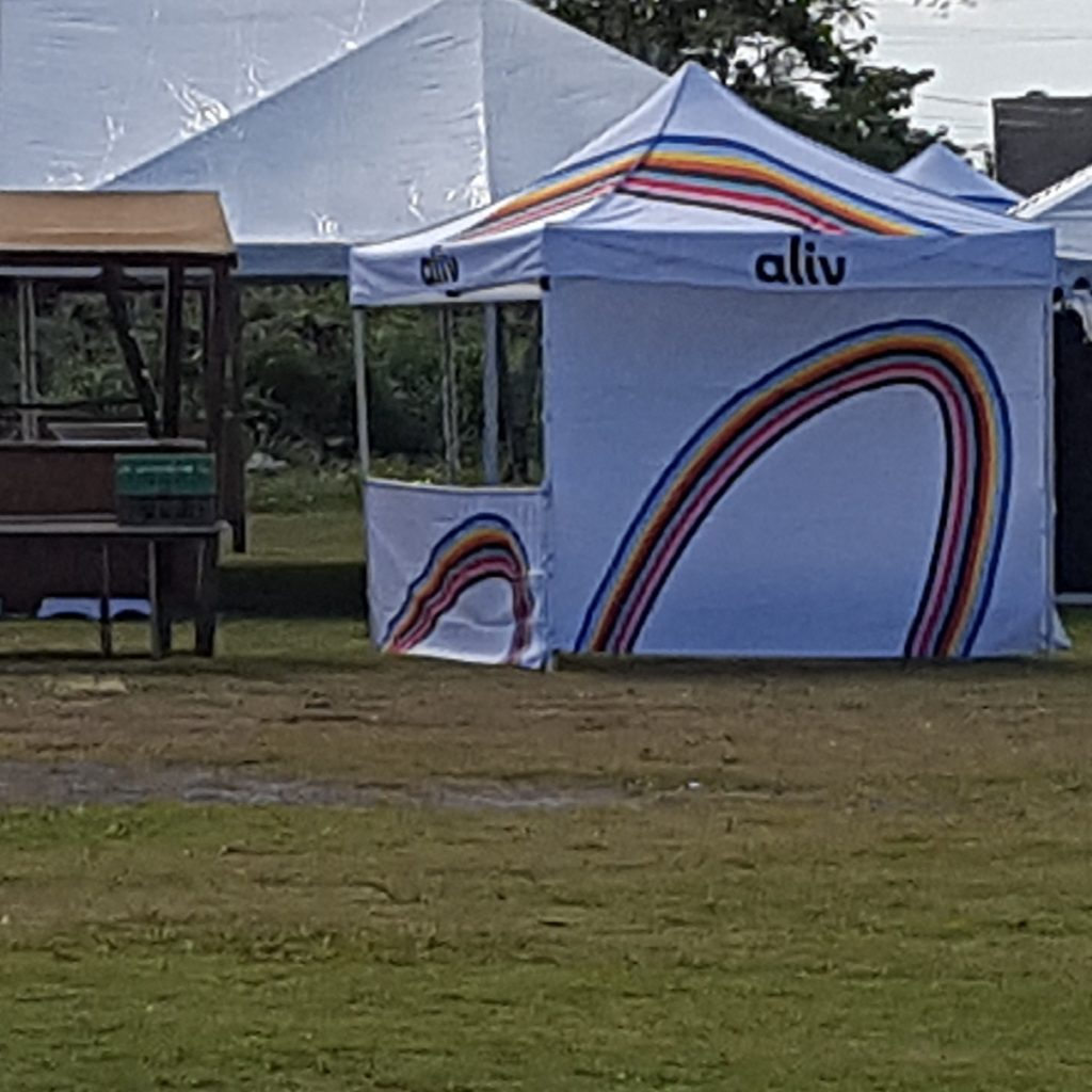 NewCo new Rainbow tent comes alive.