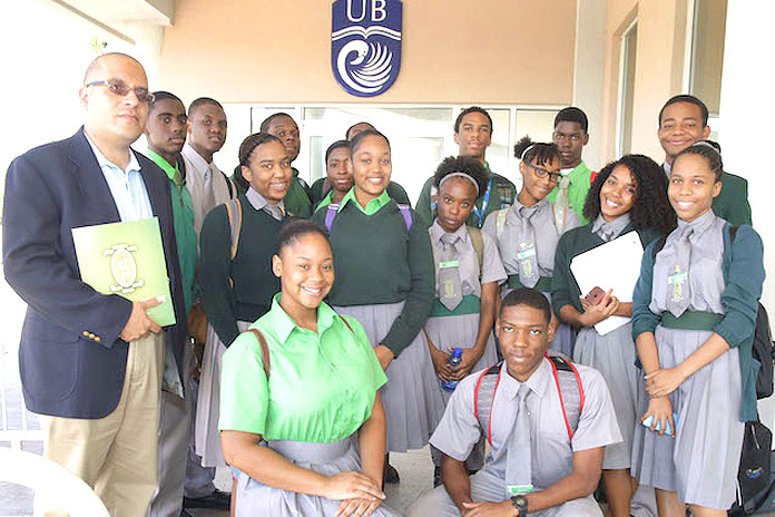 Students of St. John's College High School attended an IDB-UNDP seminar on energy sustainability at the auditorium of Harry C. Moore Library at the University of The Bahamas on Thursday, November 17. St. John's has been one of the first in the country to implement several renewable energy resources on their campus. (BIS Photo/Derek Smith)