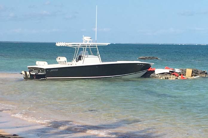 Jupiter Boat stolen recovered Bakers Creek (black hull) On Sunday December 3rd, yet another sportfishing vessel was stolen, this time from a Treasure Cay residence canal, also recovered without engines near Baker's Creek, Abaco. The Association of Bahamas Marinas is calling for a national conference on the stolen boat scourge that is harming the country's reputation and destroying investor and visitor confidence.